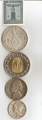 """*free *egyp.king """"TUT"""" coin  + *WW2 - *german  SILVER  EAGLE coin/stamp"""