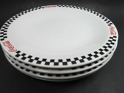 4 Gibson Coca-Cola Race Day Dinner Plates 2002 Restaurant China Pottery