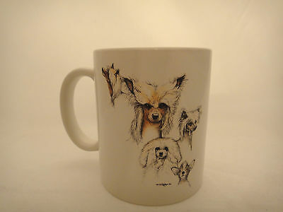 Chinese Crested Dog Mug Cup Puppy Laura Rogers Signed EUC Coffee Tea Valentine