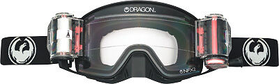 Dragon NFX2 Coal Rapid Roll System Black Frameless ATV Motocross Offroad Goggle