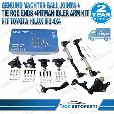 Genuine Machter Ball joints+Tie Rod Ends Idler Arm Kit for IFS Hilux 4x4 Toyota