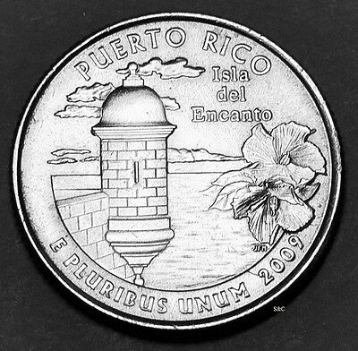 2009 P+D MINT -  Puerto Rico Quarter, Uncirculated Clad.
