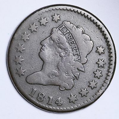 1814 Classic Head Large Cent Penny CHOICE VG/FINE FREE SHIPPING E106 CTX