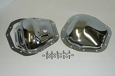 Chrome Ford Super Duty F-250 F-350 Excursion F & R Differential Cover Kit 4 x 4