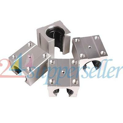 New Pack of 4 SBR20UU 20mm Aluminum Linear Router Motion Bearing Solide Block US