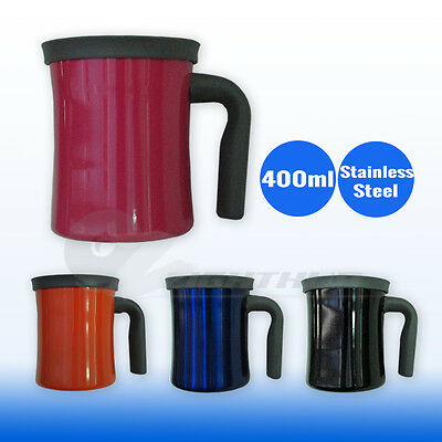 Coffee Mug Cup Stainless Steel Travel Insulated Double Wall Office Water Bottle