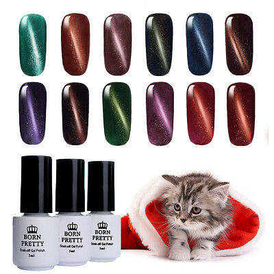 5ml Born Pretty Magnetic Cat Eye Soak Off UV LED Gel Nail Polish Manicure Salon