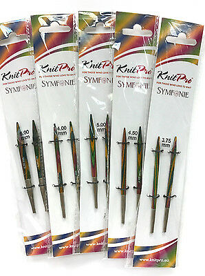 KnitPro Symfonie Wood Interchangeable needle tips (Short tips)