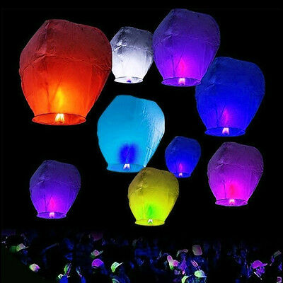 10pcs SkyFlying Wishing Lucky Chinese KongMing Lanterns Lamp for Party Wedding