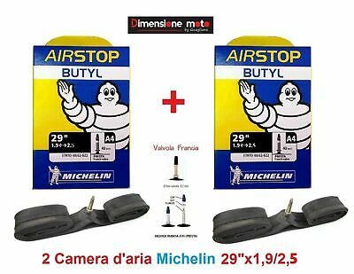 "2 Camera d'aria MICHELIN 29""x1,9/2,6 V. Presta 40mm x Bici 29"" MTB Mountain Bike"