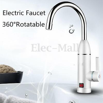 Water Heater Instant Electric Faucet Fast Heating Cold Hot Mixer Tap LED Display