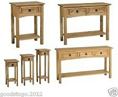 New Corona Mexican Pine Hall Console Table Or Handle. 1, 2 Or 3 Drawer,