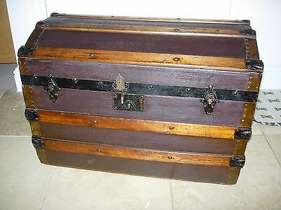 Domed topped travelling trunk