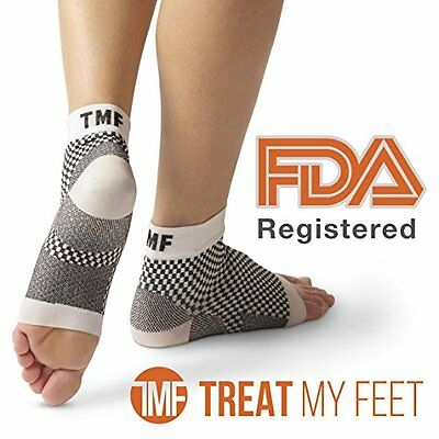 Plantar Fasciitis Sock & Compression Foot Sleeve: Fda-Registered Stocking For Ne