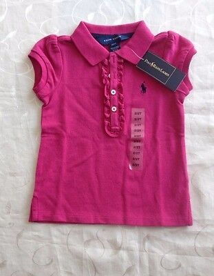 Ralph Lauren Baby Girl's 100% Cotton Polo Shirt (18-24 Months) RRP:40.00