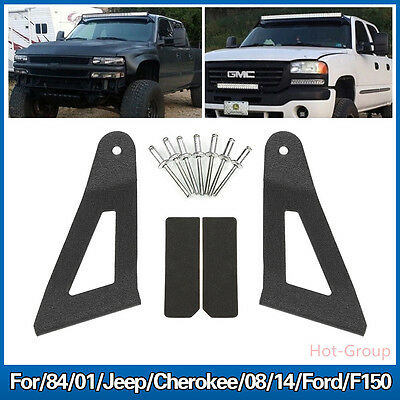 """For Jeep Cherokee 84-01 XJ&08-14 Ford F150 50"""" Curved Light Bar Roof Mount Black"""