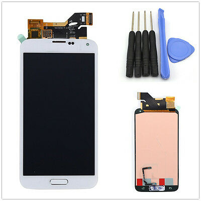 Full LCD Touch Screen Glass Digitizer For Samsung Galaxy S5 i9600 G900 Home Flex
