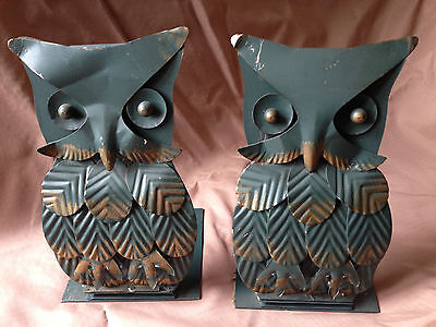 Two Owl Vintage Folding Bookends