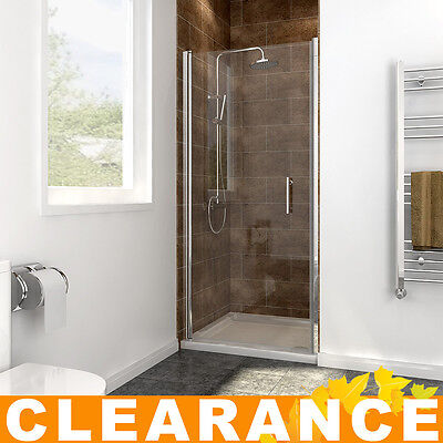 Bathroom frameless shower enclosure pivot door hinges cubicle 6mm glass screen