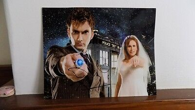 Doctor Who: Doctor and Donna signed photograph (original sigs not pre-print)