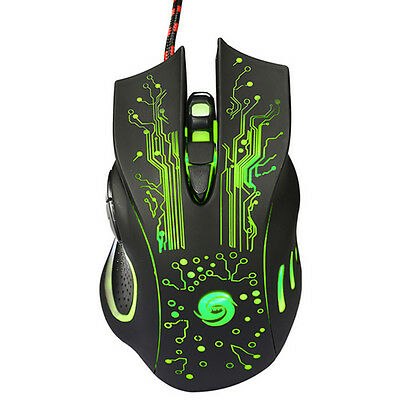 NEW LED Wireless Optical Mouse Wired Gaming Game Mice Compact For PC Laptop MAC