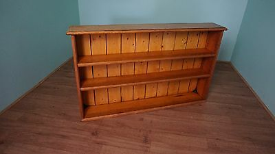 Antique Pine Bookcase Bookshelf Wall Fitted Freestanding