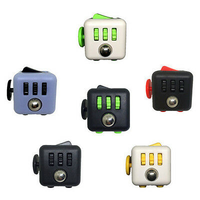 9 Colors Stress Relief Focus 6-side Fidget Cube Dice Xmas Gift Adults Kid Toy