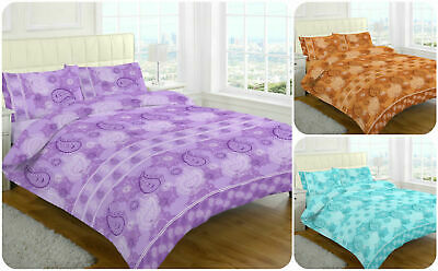 Decent Paisley Damask Duvet Cover Set with Pillow Cases Printed Poly Cotton Sets
