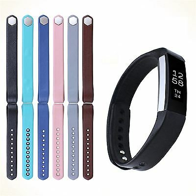 Elegant Genuine Leather Smart Watch Wristband Strap for Fitbit Alta and  Alta HR