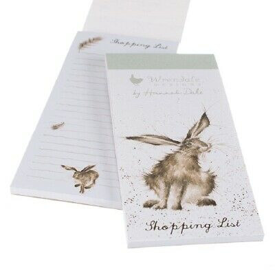 The Country Set - Hare Shopping List Pad - Magnetic Shopping list by Hannah Dale