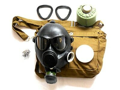 Soviet russian military gas mask all black GP-7VM army gas mask 3y / Large