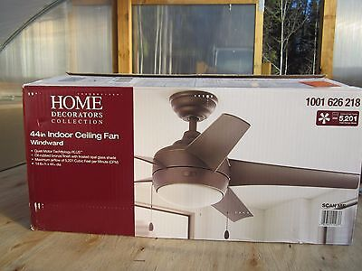 Home Decorators Collection Windward 44 in. Oil Rubbed Bronze Ceiling Fan