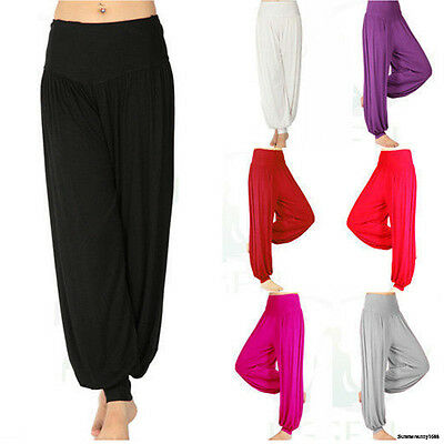 Womens Sport Yoga Pants Baggy Heram Running Gym Fit Legging Active Trousers S256