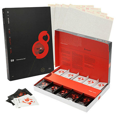 S8 Red Tattoo Stencil Kit with Stencil Paper, Transfer Gel and Barrier Gel