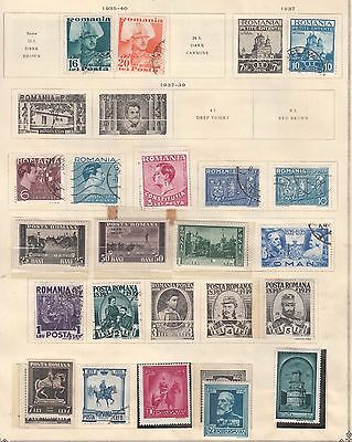 ROMANIA  ^^^^1935-40 mostly  mint collection    hcv @f2366xxbroma