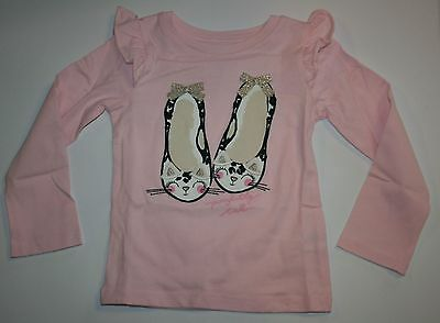 Gymboree Glamour Ballerina pink ballet slippers top NWT girls 18 24 M 2T 4T 5T