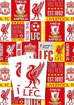Liverpool Gift Wrap 2 Sheets & 2 Tags New Gift