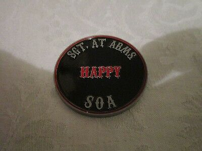 Sons of Anarchy Mezco Challenge Coin Sergeant SGT At Arms Happy Lowman Mayans MC