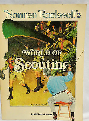 Norman Rockwell's World Of Scouting Boy Scouts Artwork 1980 William Hillcourt So