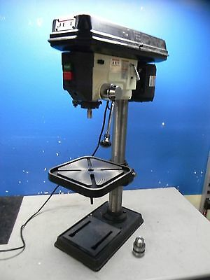 """Jet 15"""" Swing Step Pulley Control Bench Drill Press 16 Speed 2MT Spindle J-2530"""