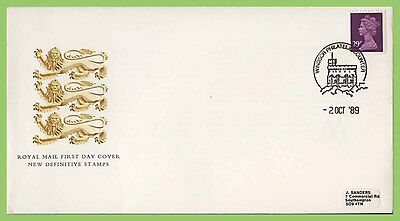 G.B. 1989 29p booklet stamp on Royal Mail First Day Cover, Windsor
