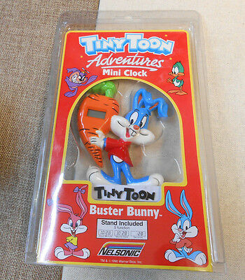 Tiny Toons Adventures Mini Clock 1990 Buster Bunny by Nelsonic