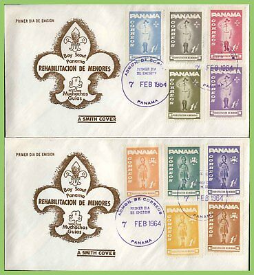 Panama 1964 Scouts set on two First Day Covers