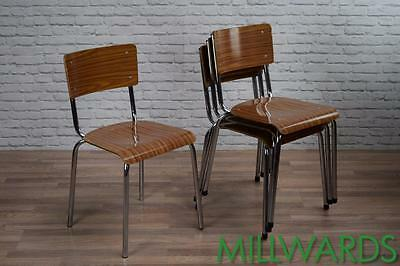 Vintage Industrial Retro Stacking School Cafe Bar Chairs 100 AVAILABLE (inc VAT)