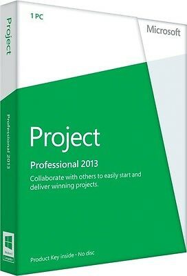 Microsoft Project Professional 2013 for 1 Computer,32 & 64 bit full version