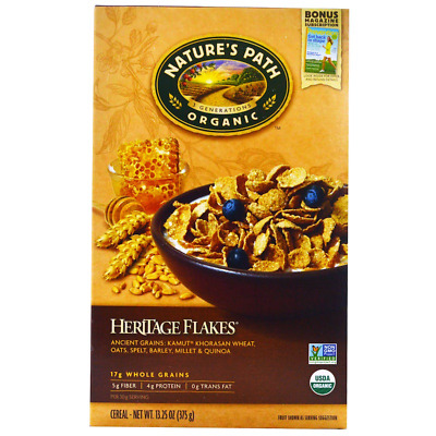 New Nature's Path Organic Heritage Flakes Cereal Breakfast Foods Daily Body Care