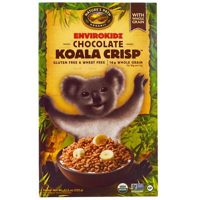 New Nature's Path Envirokidz Organic Chocolate Koala Crisp Cereal Whole Grain