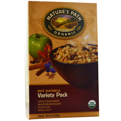 New Nature's Path Organic Hot Oatmeal Variety Pack Whole Grain Daily Cereal Food