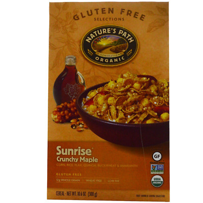 New Nature's Path Sunrise Crunchy Maple Cereal Gluten Free Daily Healthy Foods
