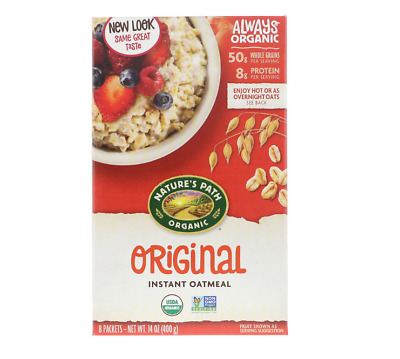 New Nature's Path Organic Hot Oatmeal Packets Whole Grain Daily Cereal Foods